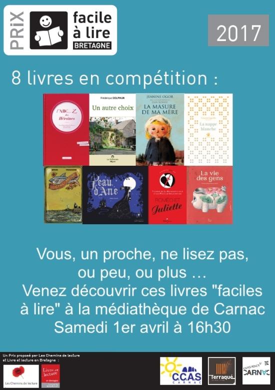 Affiche Prix Facile a Lire 2017_Mediatheque Carnac