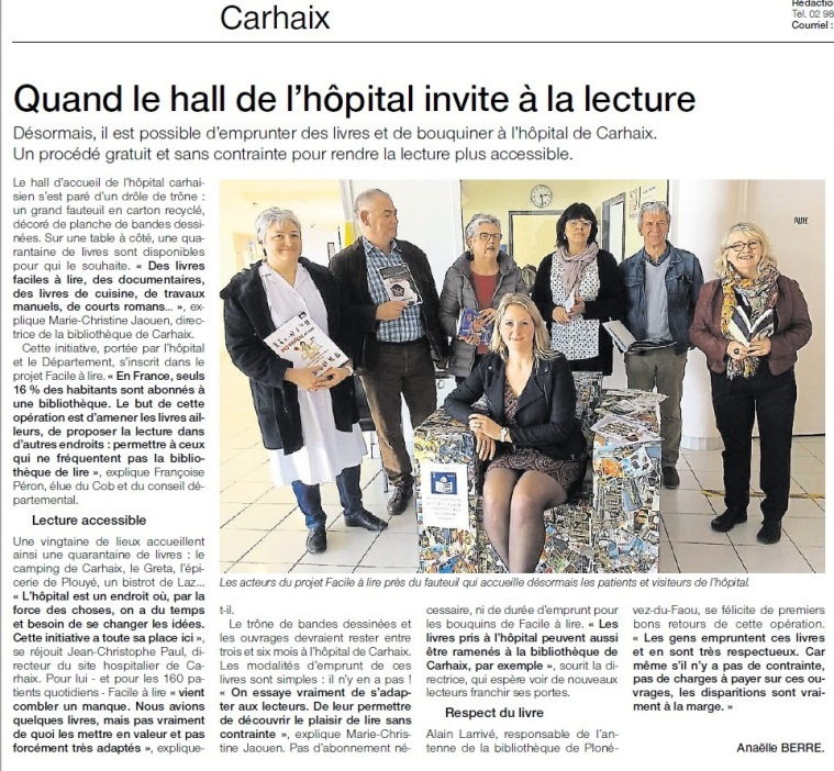 article OF hopital carhaix