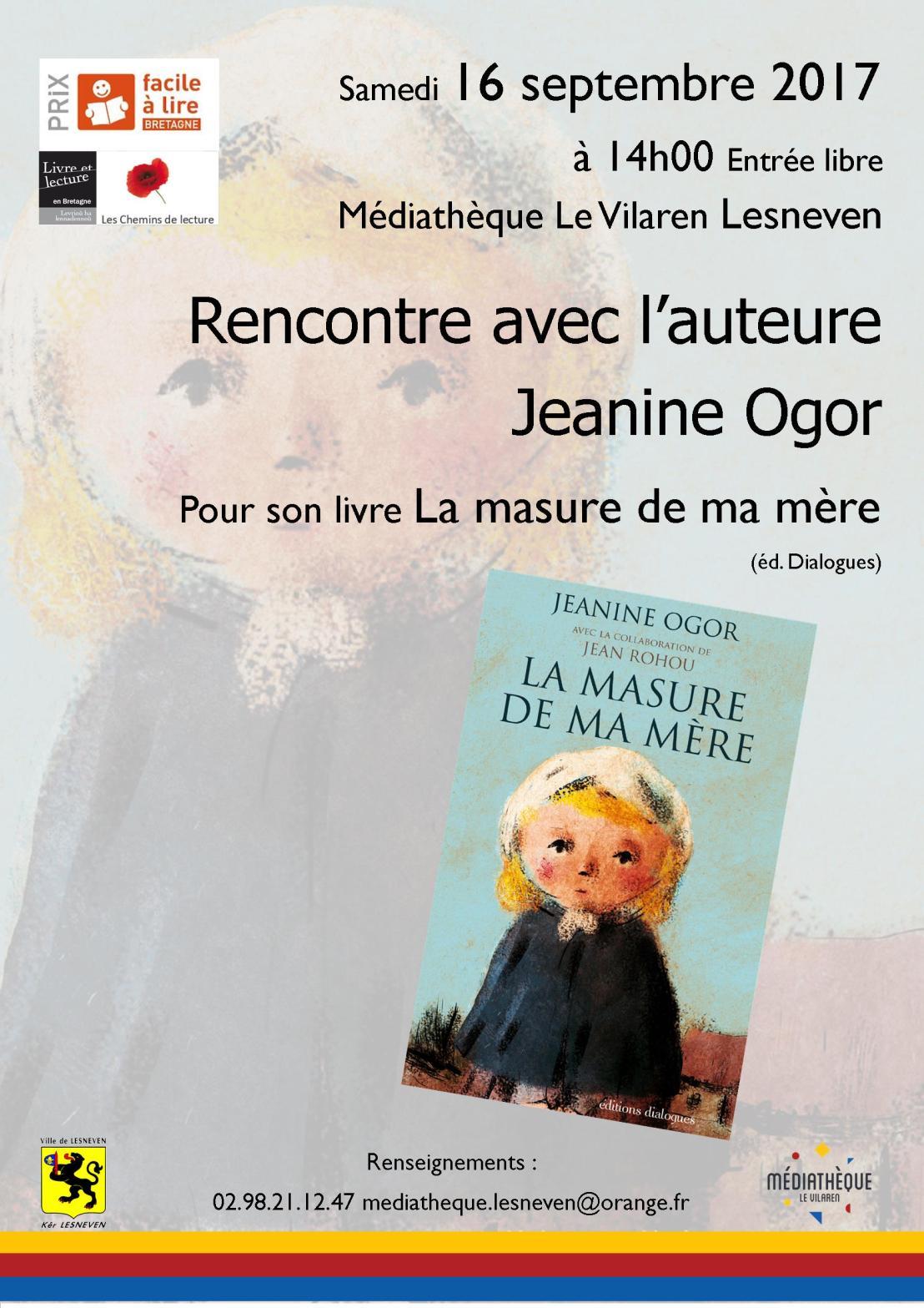 Jeanine Ogor à la rencontre du public deLesneven